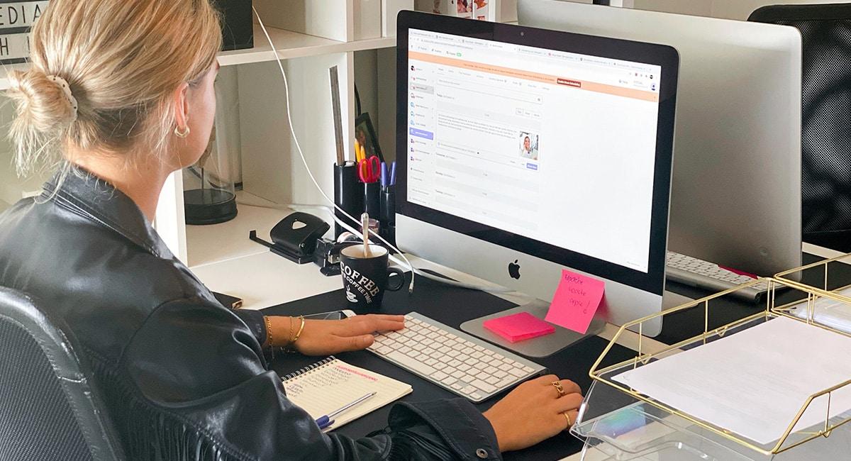 Werkdag online marketeer